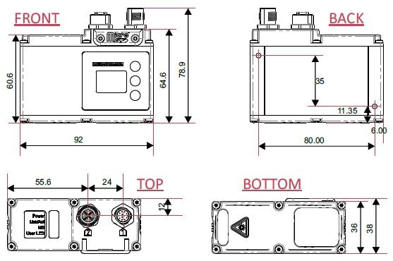ProfileTrak™ G series product dimensions