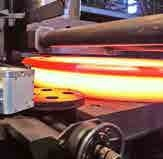 Production of steel-forged rings