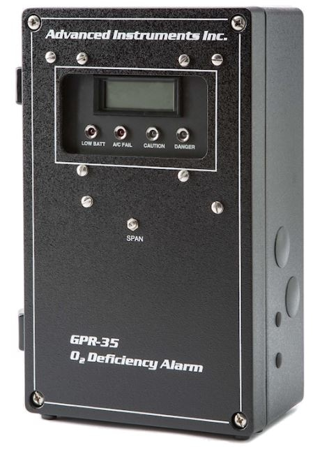 Fixed Ambient Oxygen Deficiency Monitors with Alarms