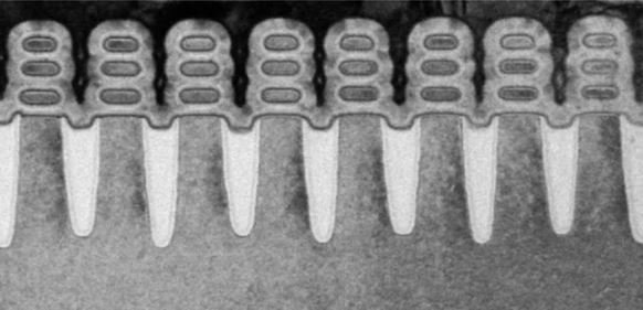 TEM cross-section of stacked NanoSheet transistors. Source: IBM Research