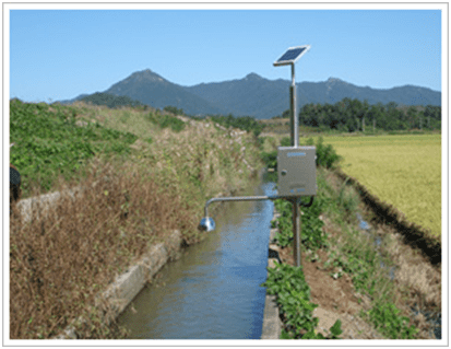 Open-air monitoring of a small canal.