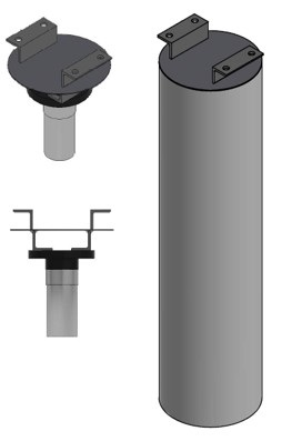 "The ToughSonic 30 sensors were mounted in the top of a closed ""air pouch or bell"" (a tube of 32 inches long and 8 inches diameter)"