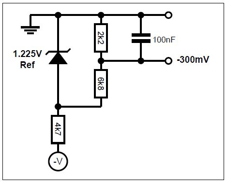 Example bias circuit for -300mV