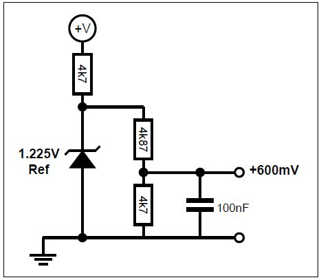 Example bias circuit for +600mV