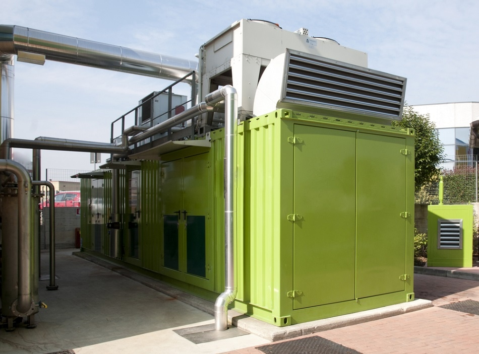 Biogas can be converted into electrical energy at dedicated plants.