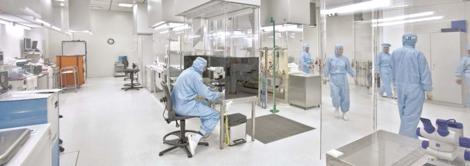 State-of-the-art Production in First Sensor Clean Rooms