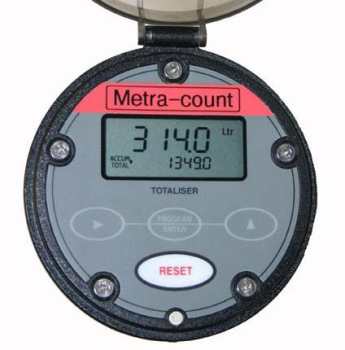 Metra Count - Computing and Displaying Totals from Flowmeters