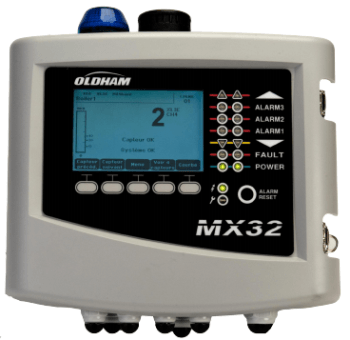 Monitor Multiple Gas Detectors - MX 32 Digital and Analog Controller