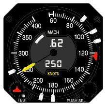 Mach Airspeed Indicator from Innovative Solutions & Support