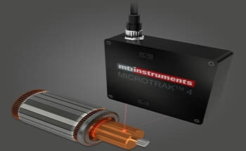 Using MTI Instruments DTS- 4 Laser Triangulation Sensor for DC Motor's