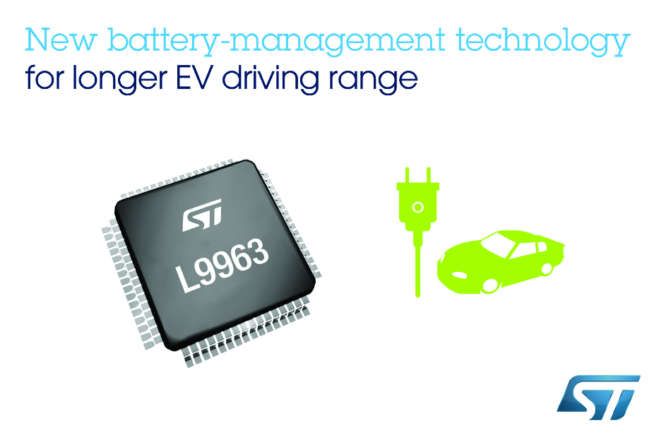 STMicroelectronics Reveals Latest Innovation in Electric-Vehicle Energy Management for Cleaner and Safer Mobility