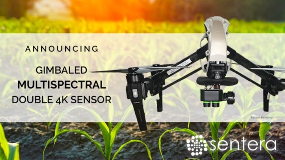 Sentera's Multispectral Double 4K Sensor Delivers High-Megapixel Crop Health Imagery and Data