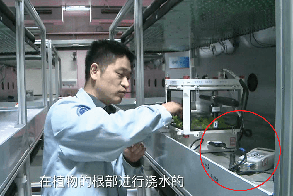 Chinese Astronauts Use the Delta-T Devices WET Sensor to Help Grow Lettuce in Space