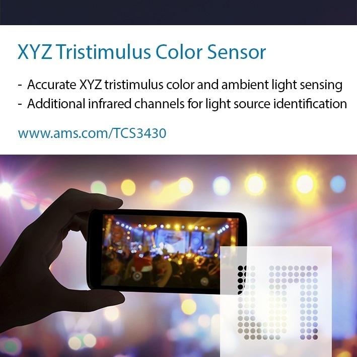 ams Launches Smallest Available XYZ Tri-Stimulus Sensor for True Color Consumer Applications