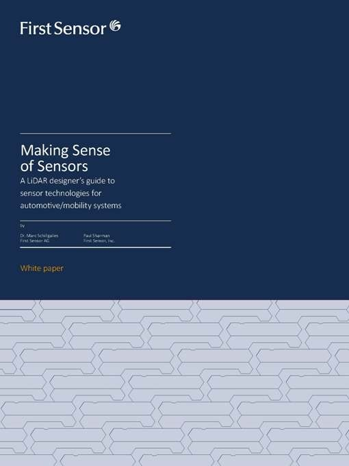New White Paper is a LiDAR Designer's Guide to Sensor Technologies for Automotive, Mobility System
