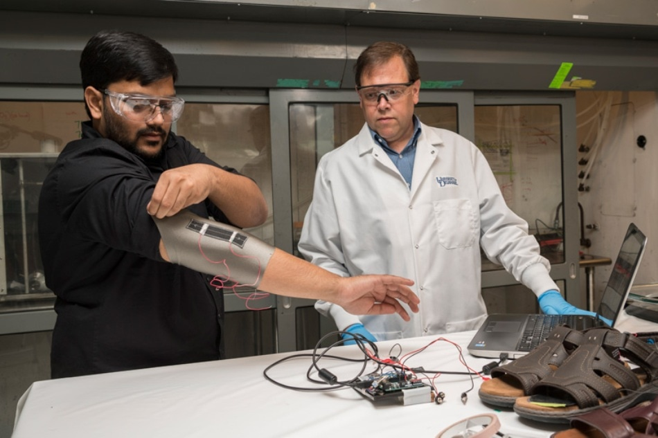 Flexible Carbon Nanotube Composite Coatings for Fibers to Enable Smart Textiles
