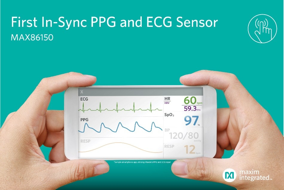 Maxim Launches First-of-a-Kind Biosensor Module Integrating PPG and ECG Sensor in a Compact Design