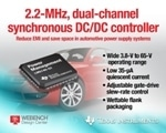 TI's Innovative Dual-Channel Synchronous Buck Converter Reduces System Noise in Automotive Power Supply Systems