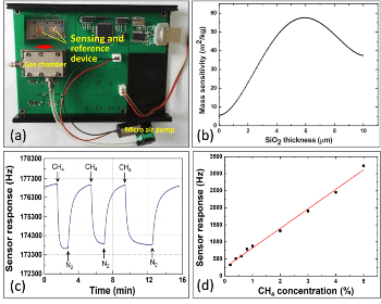 Innovative Love Wave-Based Methane Gas Sensor has Fast Response and High Sensitivity