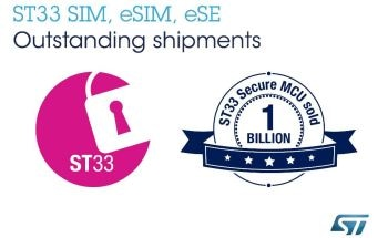 STMicroelectronics Breaks Major Milestone for ST33 Secure Chips with Over One Billion Sold to Secure the Connected World