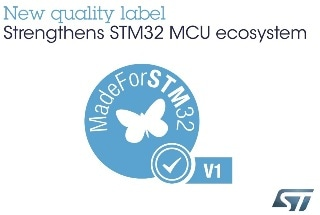 STMicroelectronics Strengthens STM32 Microcontroller Ecosystem with MadeForSTM32 Quality Label