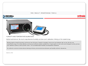 Complete Humidity Calibration Range from Michell Instruments and Rotronic: New Microsite Launched