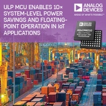 Ultra Low Power MCU Enables 10 Times System-Level Power Savings and Floating-Point Operation in IoT Applications