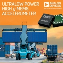 Analog Devices' Ultralow Power Accelerometer Enables Remote IoT Edge Nodes to Monitor Asset Health