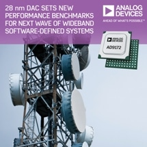 Analog Devices' 28-Nanometer D/A Converter Sets New Performance Benchmarks for Next Wave Wideband Software Defined Systems