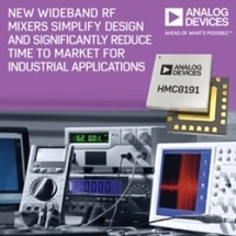 Analog Devices' Wideband RF Mixers Simplify Design and Significantly Reduce Time to Market for Industrial Applications