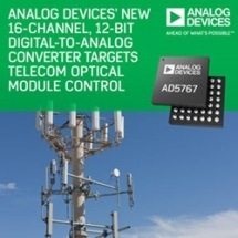 Analog Devices' 16-Channel, 12/16-Bit Digital-to-Analog Converters Target Telecom Optical-Module Control