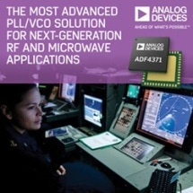 Analog Devices Introduces Industry's Most Advanced PLL/VCO Solution for Next-Generation RF, Microwave and Millimeterwave Applications