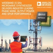 Wideband Microwave Synthesizer Delivers Industry Leading Phase Noise, Output Power and Spur Performance with Operation from 55 MHz to 15 GHz