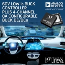 60 V Low IQ Buck Controller Plus 4-Channel 8 A Configurable Buck DC/DCs