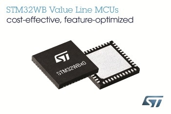 New STM32WB Wireless Microcontrollers from STMicroelectronics Delivered in a New Affordable Value Line