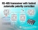 New Low-Power RS-485 Transceiver with Automatic Bus-Polarity Correction Time from TI