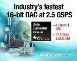 Texas Instruments Unveils High Speed 16-bit DAC
