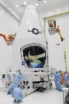 Defense Meteorological Satellite Program Satellite Encapsulated Into Payload Fairing