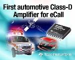 Fully Integrated Mono, Class-D Audio Amplifier for eCall from TI