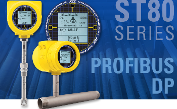 ST80 Thermal Flow Meter Now with Profibus DP Puts Air/Gas Flow Measurement on the Bus